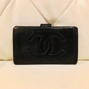 Authentic Chanel Lambskin Long Wallet